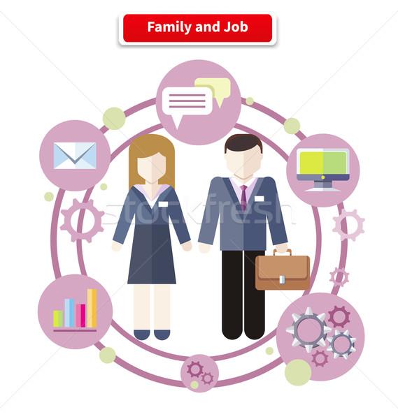 Saldo trabalhar vida familiar conjunto negócio trabalho Foto stock © robuart