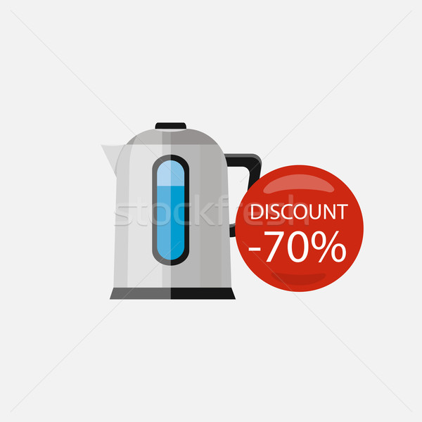 Sprzedaży gospodarstwo domowe urządzenia elektryczne czajnik elektronicznej Zdjęcia stock © robuart