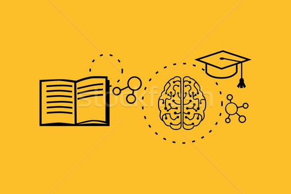 Apprendimento capacità design strategia istruzione sviluppo Foto d'archivio © robuart
