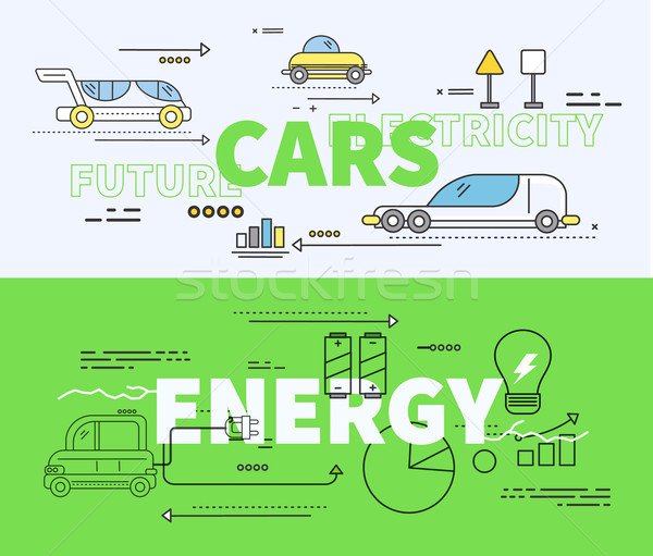 Car of Future Energy Electricity Stock photo © robuart