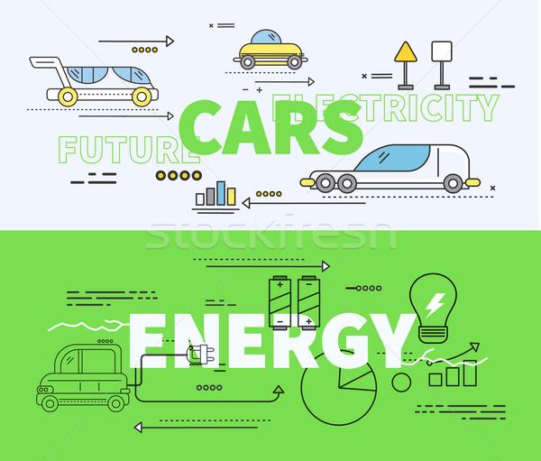 Auto toekomst energie elektriciteit macht technologie Stockfoto © robuart