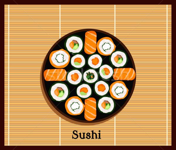 Japanese Food Sushi Design Flat Stock photo © robuart
