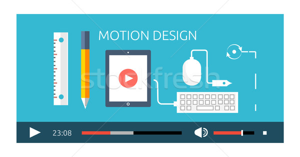 Motion Design Video Play Production Stock photo © robuart