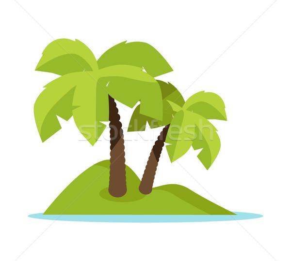 Tropic Island Concept Vector Illustration Banner Stock photo © robuart