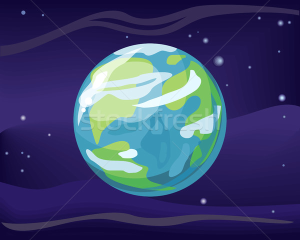 Pianeta terra spazio star elemento sistema solare cosmico Foto d'archivio © robuart
