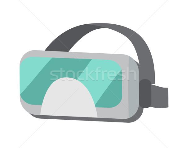 Bril virtueel realiteit helm geïsoleerd stijl Stockfoto © robuart