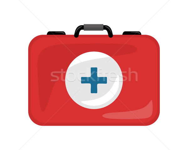 Medical Kit Icon Isolated. Realistic Emergency Bag Stock photo © robuart