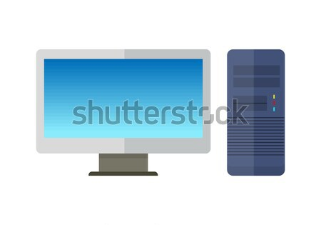 Computer Monitor with Computer System Unit Stock photo © robuart