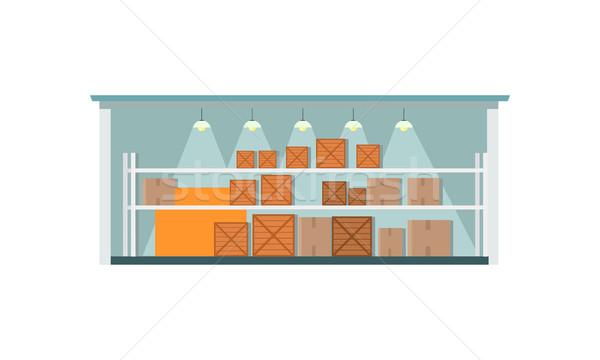 Warehouse Interior Icon Stock photo © robuart