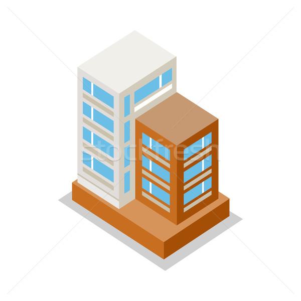 Isometric Modern Apartment Building Stock photo © robuart