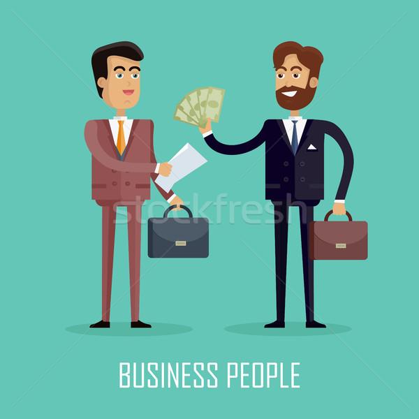 Gente de negocios dos empresarios contrato negocios Foto stock © robuart