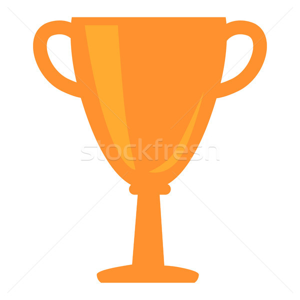 Golden Cup Award Icon Vector Illustration Isolated Stock photo © robuart