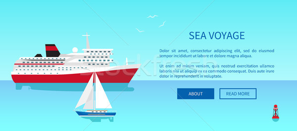 Sea Voyages Promotional Poster, Modern Yacht Stock photo © robuart