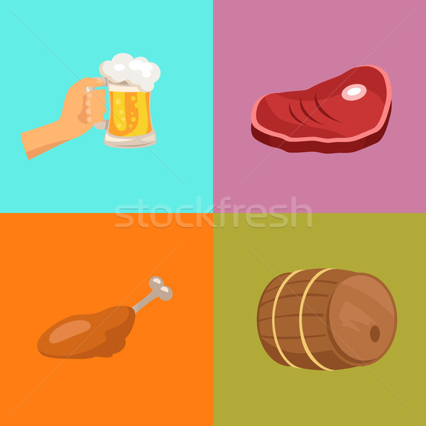 Four Images at Octoberfest Vector Illustration Stock photo © robuart