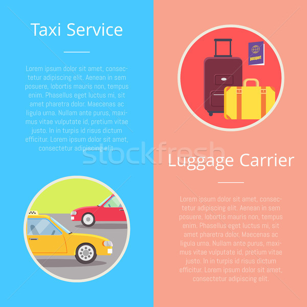 Taxi Service Luggage Carrier Vector Illustration Stock photo © robuart