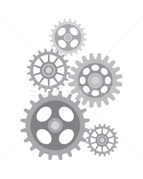 Set of Different Sized Gears Vector Illustration Stock photo © robuart
