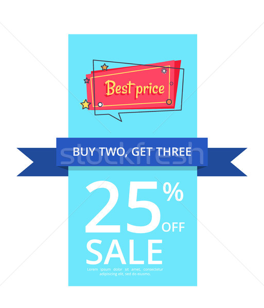 Buy Two Get Three Best Price 25 Percent Off Sale Stock photo © robuart