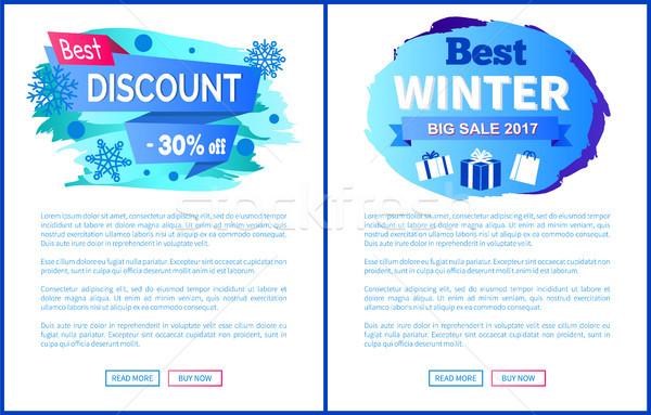 Legjobb árengedmény 30 el tél vásár Stock fotó © robuart