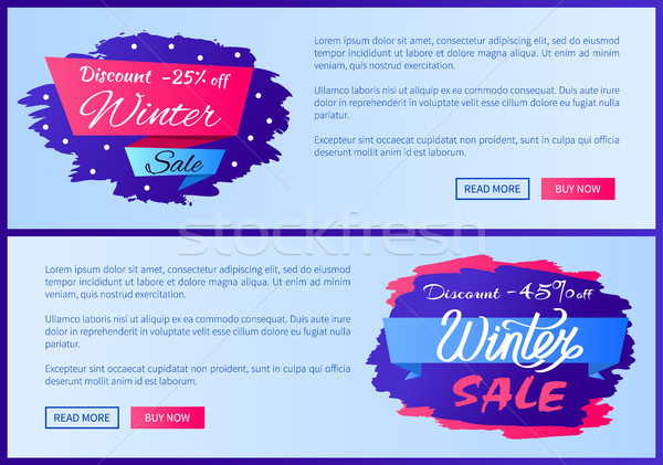 Discount -25 Off Winter Sale Vector Illustration Stock photo © robuart