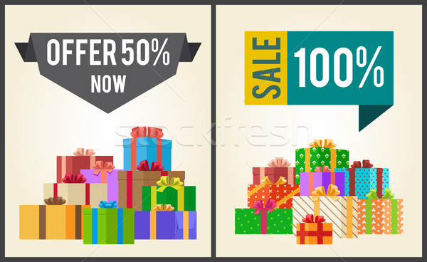 50 novo venda 100 promo Foto stock © robuart