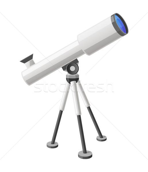 телескопом мнение право изолированный иллюстрация Сток-фото © robuart