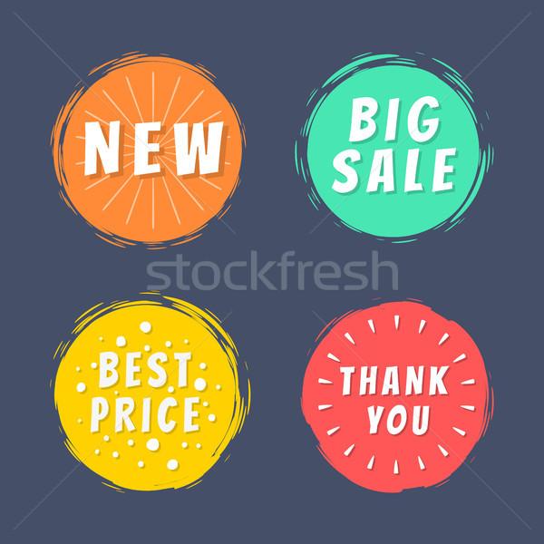 új nagy vásár legjobb ár köszönjük szöveg Stock fotó © robuart
