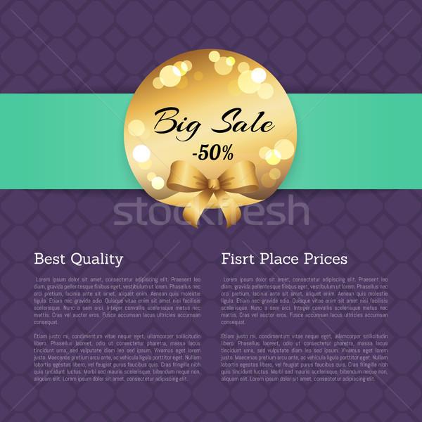 O melhor qualidade primeiro lugar preços venda dourado Foto stock © robuart