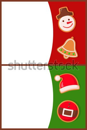 Santa Claus Hat with Buckle Isolated on White. Stock photo © robuart