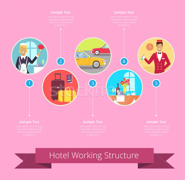Hotel Working Structure Vector Illustration Stock photo © robuart
