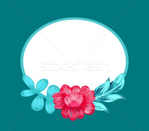 цветок овальный кадр Blossom розовый Сток-фото © robuart