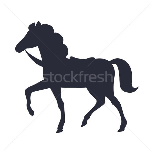 Cartoon Horse Vector Illustration Isolated White Stock photo © robuart