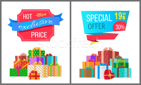 Hot Exclusive Price Special Offer Sale Posters Stock photo © robuart
