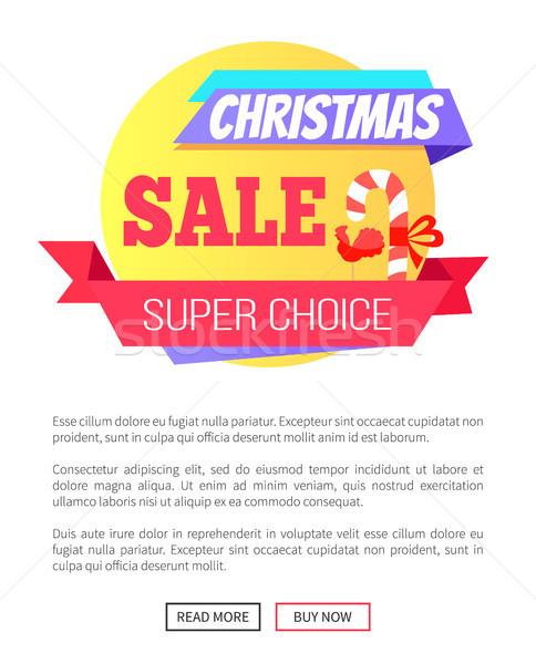 Super escolha natal venda cartão pirulito Foto stock © robuart