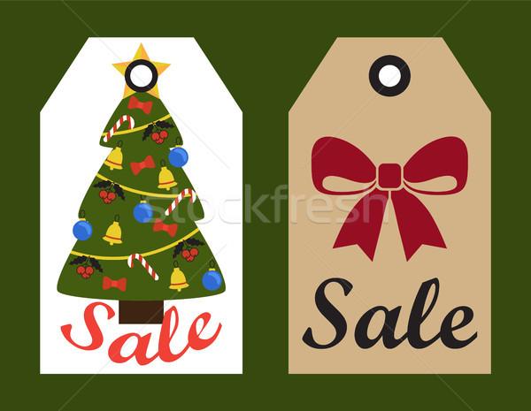 Venta año nuevo árbol arco colección banners Foto stock © robuart