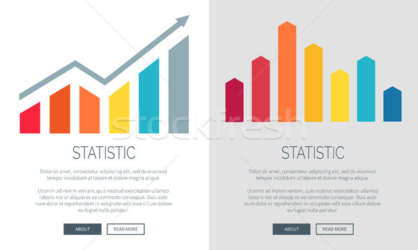Statistisch charts promo internet banners ingesteld Stockfoto © robuart