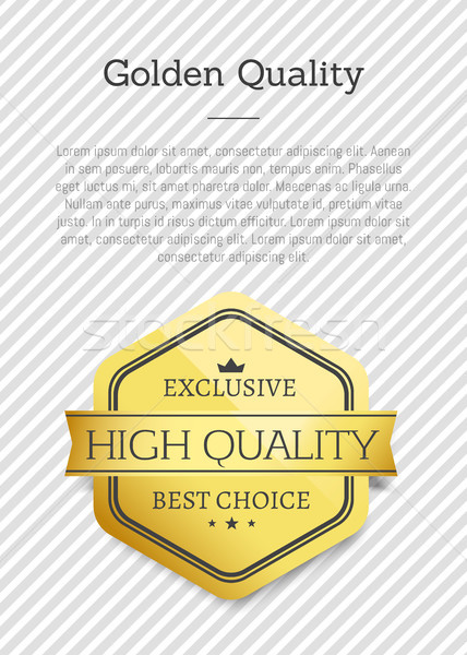 Golden Quality Exclusive Best Choice High Standard Stock photo © robuart