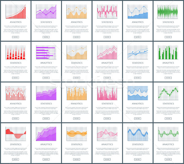 Analytics and Statistics Set Vector Illustration Stock photo © robuart