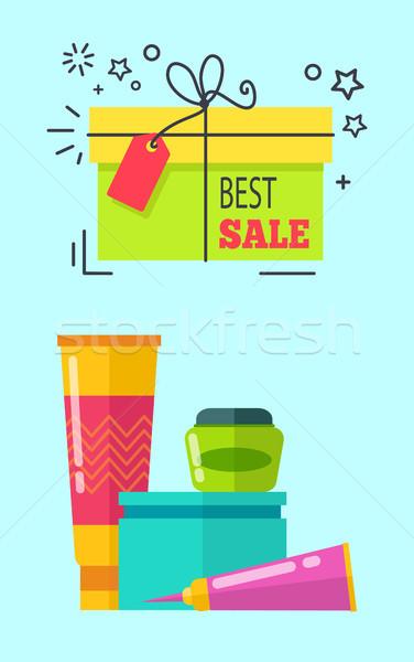 Best Sale Headline Cosmetics Vector Illustration Stock photo © robuart