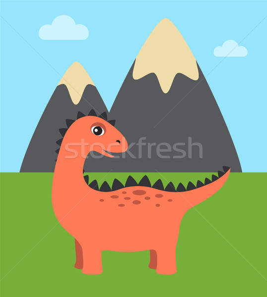 Dinosaur and Wild Nature Vector Illustration Stock photo © robuart