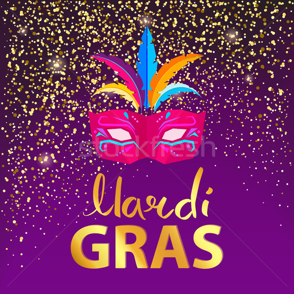 Mardi Gras, Carnival Mask on Vector Illustration Stock photo © robuart