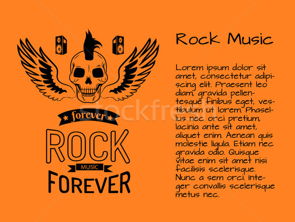Rock Music Forever Poster Vector Illustration Stock photo © robuart