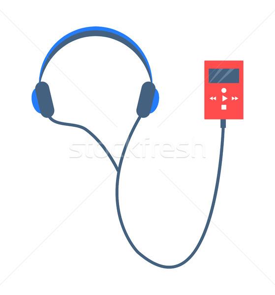 Muziekspeler geïsoleerd witte illustratie vector Stockfoto © robuart