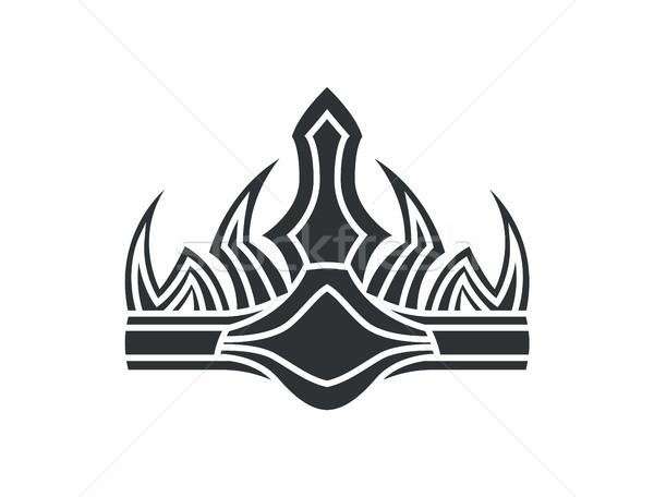 Coroa gótico estilo monocromático ilustração antigo Foto stock © robuart