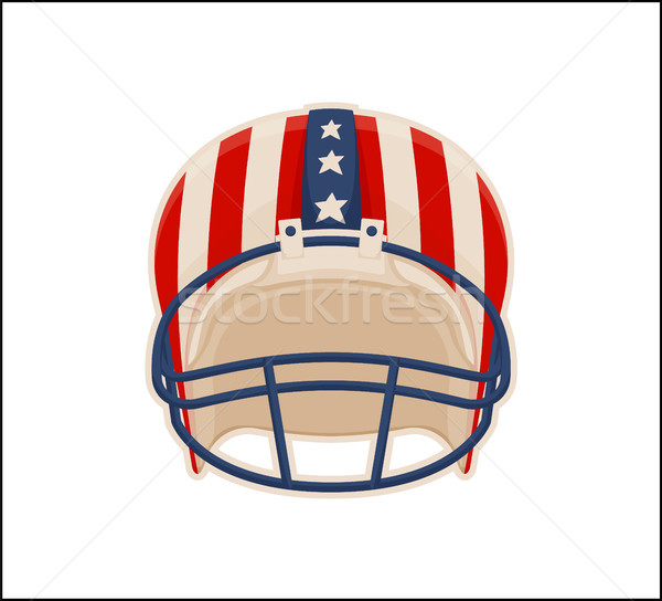 Helmet for American Football Sport, Color Poster Stock photo © robuart