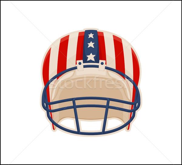 Kask amerykański piłka nożna sportu kolor plakat Zdjęcia stock © robuart