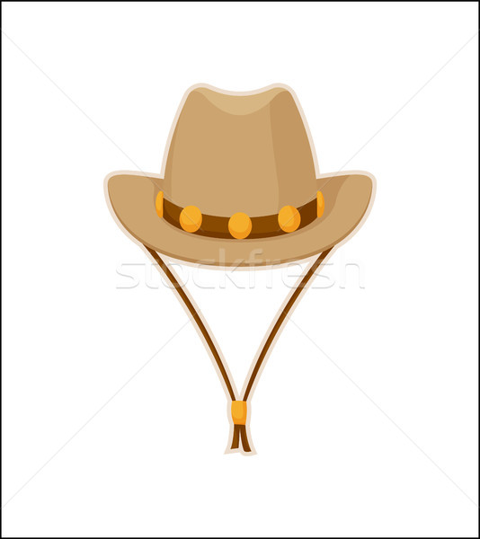 Cowboy Hat American Style Headwear Vector Icon Stock photo © robuart