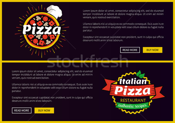 Pizza italien recettes web Photo stock © robuart