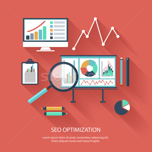 Seo optimisation programmation processus web analytics Photo stock © robuart