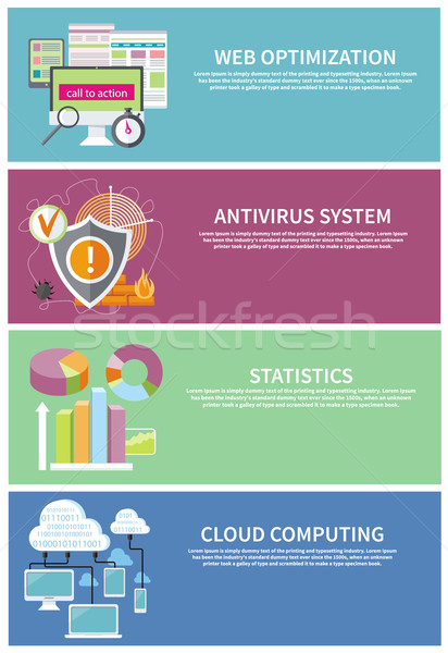 Antivirus system, cloud computing, statistics Stock photo © robuart