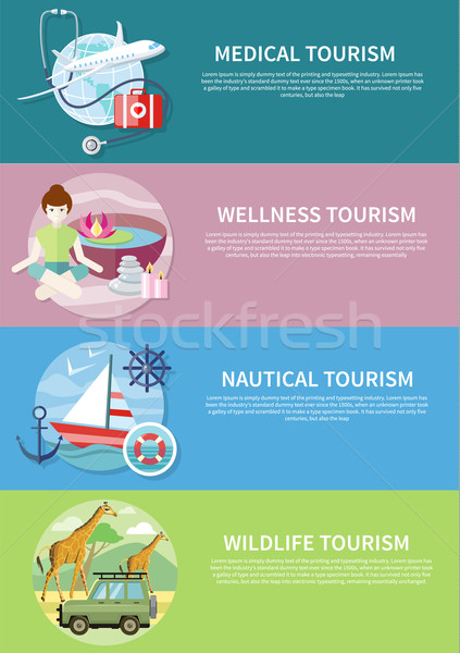 Wildlife, Wellness, Medical and Nautical Tourism Stock photo © robuart